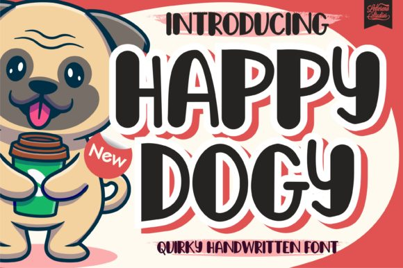 Print on Demand: Happy Dogy Display Font By letterenastudios