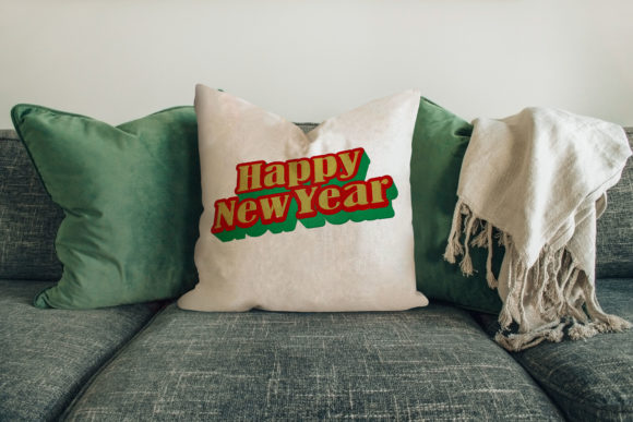 Happy New Year Holidays & Celebrations Embroidery Design By Digital Creations Art Studio