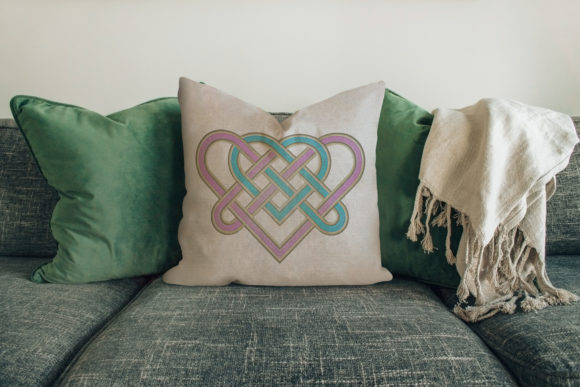 Heart Endless Knot House & Home Embroidery Design By Digital Creations Art Studio