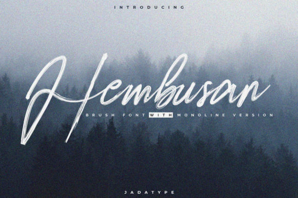 Print on Demand: Hembusan Script & Handwritten Font By jadatype