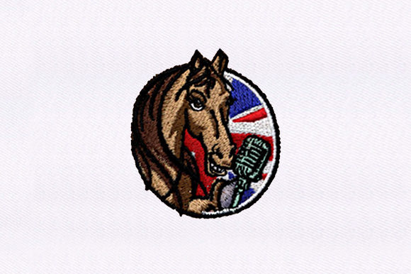 Horse As a British Broadcaster Horses Embroidery Design By DigitEMB