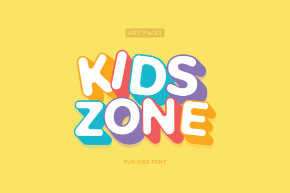 Print on Demand: Kids Zone Display Font By artyway