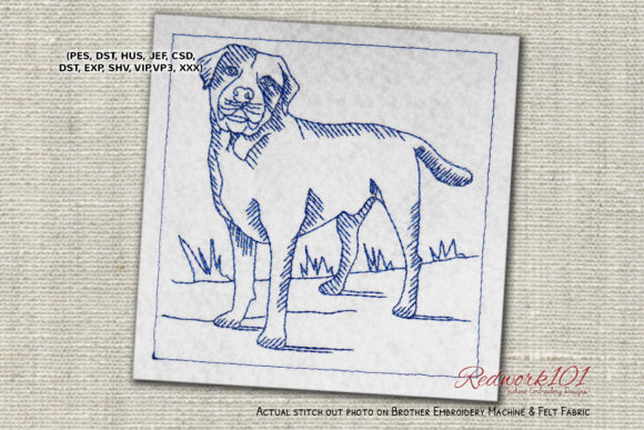 Labrador Dog Dogs Embroidery Design By embroiderydesigns101