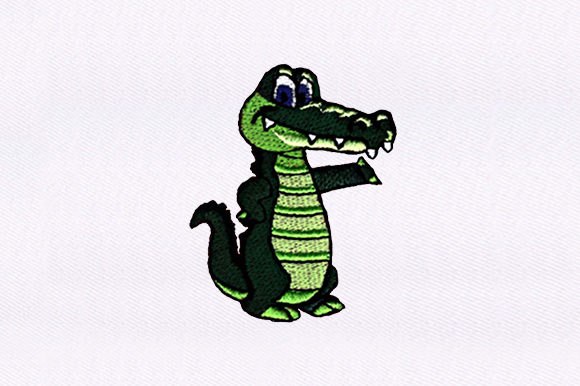 Little Alligator Baby Animals Embroidery Design By DigitEMB