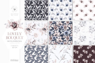 Print on Demand: Lovely Bouquet Floral Pattern Collection Graphic Illustrations By Busy May Studio 1