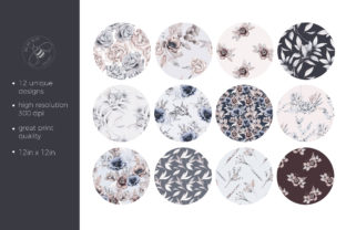 Print on Demand: Lovely Bouquet Floral Pattern Collection Graphic Illustrations By Busy May Studio 5