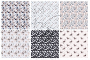 Print on Demand: Lovely Bouquet Floral Pattern Collection Graphic Illustrations By Busy May Studio 7