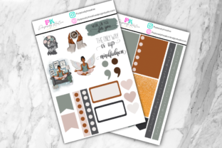 Mindfulness Sticker Sheet Graphic Graphic Templates By PurposelyKreative