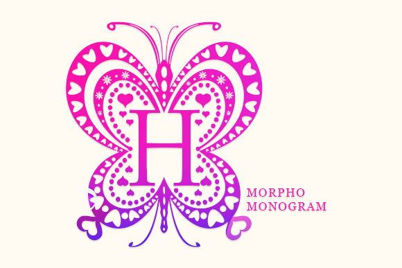 Print on Demand: Morpho Monogram Decorative Font By utopiabrand19