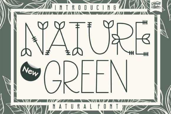 Print on Demand: Nature Green Script & Handwritten Font By letterenastudios