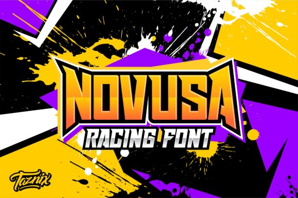 Print on Demand: Novusa Display Font By taznixart