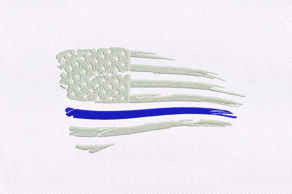 Patriotic USA Flag Independence Day Embroidery Design By DigitEMB