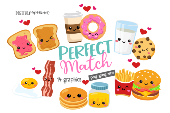 Print on Demand: Perfect Match Gráfico Ilustraciones Por DigitalPapers