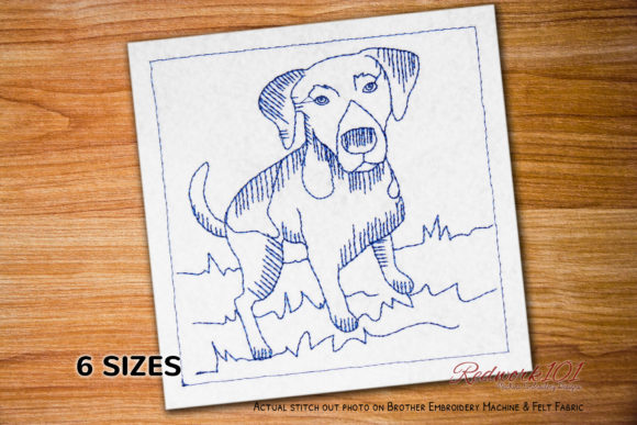 Pointer Hunting Dog Bluework Dogs Embroidery Design By embroiderydesigns101