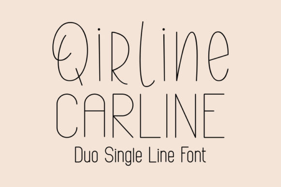 Print on Demand: Qirline & Carline Sans Serif Font By harisprawoto