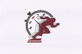 Racing Against Time School & Education Embroidery Design By DigitEMB