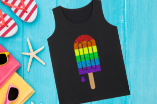Rainbow Popsicle SVG Graphic Crafts By DesignedByGeeks