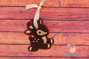 Reindeer Doll Ornament Christmas Embroidery Design By embroiderydesigns101