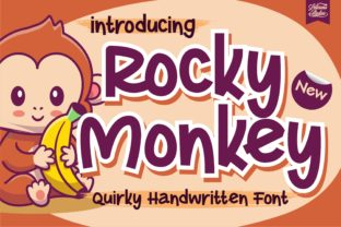 Print on Demand: Rocky Monkey Display Font By letterenastudios