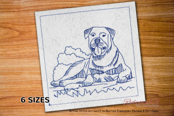 Rottweiler Dogs Embroidery Design By embroiderydesigns101