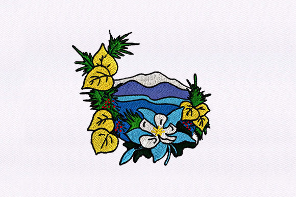 Scenery & Flower Backgrounds Embroidery Design By DigitEMB