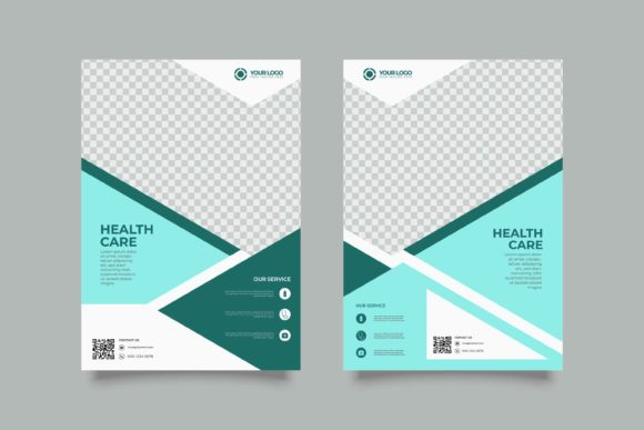Print on Demand: Set of Medical Flyer Design Template Graphic Graphic Templates By Novendi88