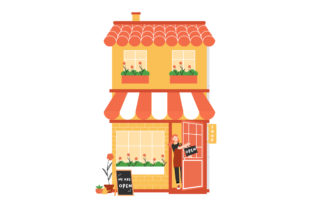 Print on Demand: Small Business Owner Open Bistro House Graphic Illustrations By Musbila