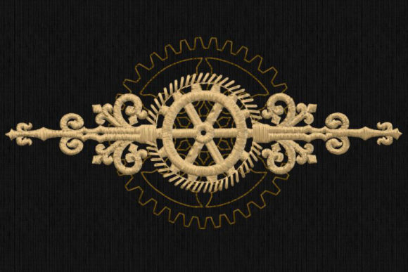 Steampunk Decoration Shapes Embroidery Design By DNE embroidery