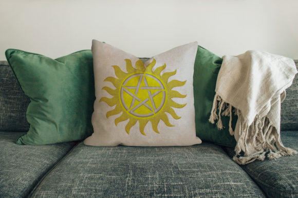 Sun with Star House & Home Embroidery Design By Digital Creations Art Studio