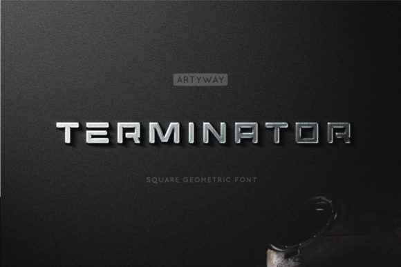 Print on Demand: Terminator Display Font By artyway