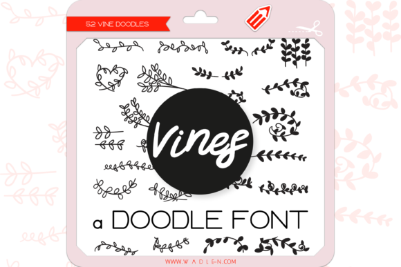 Print on Demand: The Vines Dingbats Font By WADLEN