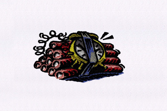 Ticking Time Bomb Military Embroidery Design By DigitEMB