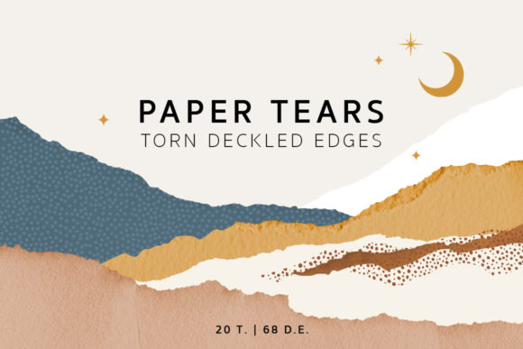 Torn Deckled Paper Edges Graphic Textures By NassyArt