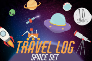 Travel Log, Space Set Graphic Crafts By Firefly Designs