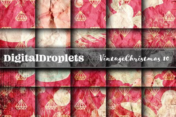 Vintage Christmas 10 Graphic Backgrounds By digitaldroplets