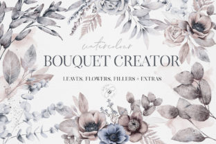 Watercolor Bouquet Creator Flower PNG Grafik Illustrationen von Busy May Studio
