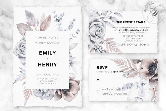 Watercolor Bouquet Creator Flower PNG Graphic Graphic