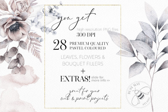 Watercolor Bouquet Creator Flower PNG Graphic Download