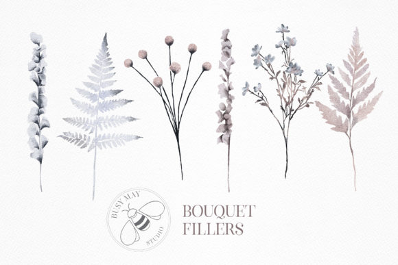 Watercolor Bouquet Creator Flower PNG Graphic Image