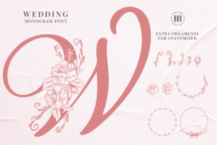 Print on Demand: Wedding Monogram Decorativa Fuente Por colllabstudio
