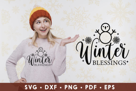 Winter Blessings, Winter Graphic Crafts By CraftlabSVG