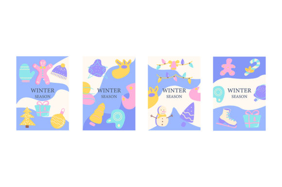 Print on Demand: Winter Festive Season Abstract Posters Graphic Graphic Templates By bsd studio