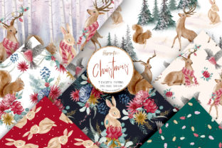 Woodland Christmas Patterns Graphic Patterns By Hippogifts