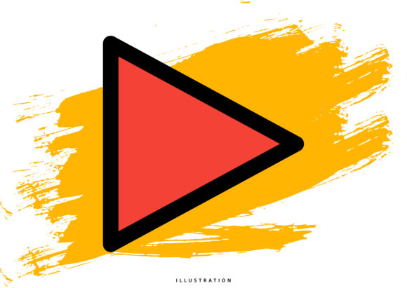 Play Button Graphic Illustrations By hello.cluk7