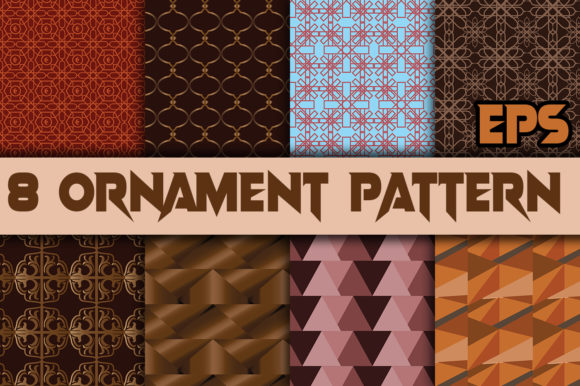 Print on Demand: Unique Seamless Pattern from Ornament Graphic Patterns By ahmaddesign99