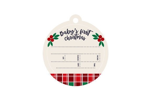 First Christmas Birth Stats Christmas Craft Cut File By Creative Fabrica Crafts