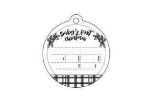 First Christmas Birth Stats Christmas Craft Cut File By Creative Fabrica Crafts 2