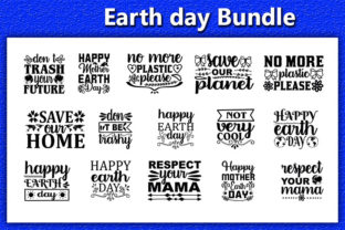 Print on Demand: 20 Earth Day  Quotes Designs Bundle Graphic Print Templates By Iyashin_graphics