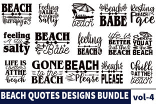 Print on Demand: 28 Beach Quotes Designs Bundle Graphic Print Templates By Star_Graphics