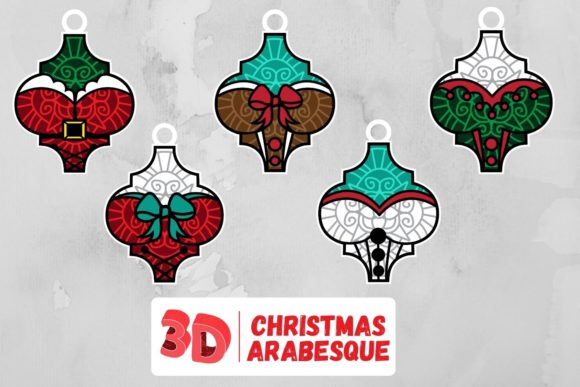 3D Christmas Arabesque SVG Bundle Graphic Crafts By SvgOcean